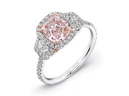 colored engagement rings pink diamond and gold engagement rings pink diamond