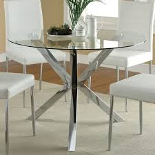 Round Glass Top Dining Table Set Dining Room Elegant Table Modern Round Glass Pythonet Home Top