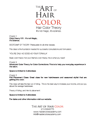 Hairstylist Classes Hands On Color Theory Class With Celebrity Hair Colorist Catherine