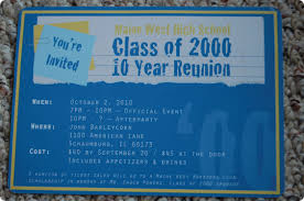 high school class reunion invitations nostalgic high school reunion