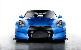 nissan sports car blue blue car