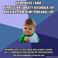 Rock Bottom Meme - convinced i have depression anxiety disorder hit rock bottom in
