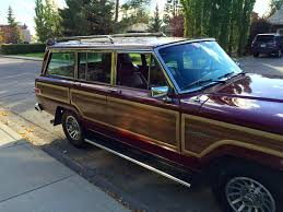 jeep utility trailer 1991 jeep sj grand wagoneer is up for grabs on bring a trailer