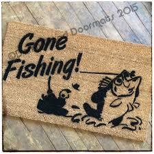 gone fishing doormat damn good doormats