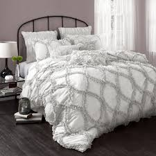 Target Black And White Comforter Bedroom Cloud White Ruffle Comforter With Beautiful Headboard And