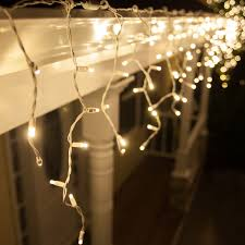 white christmas lights led christmas lights 70 5mm warm white twinkle led icicle lights