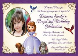 personalized photo invitations cmartistry sofia the first