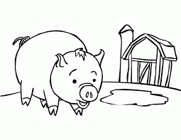 pig coloring pages smiling pig pictures