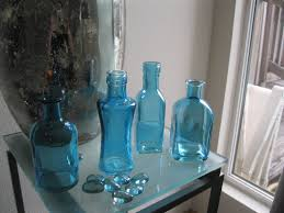 home decor colored glass bottles home decor