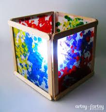 How To Make Paper Light Lanterns - diy wax paper lantern artsy fartsy
