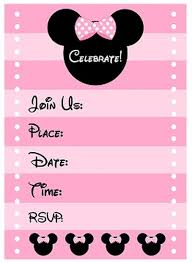 free minnie mouse birthday party invitation template invitations