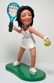 tennis cake toppers personalized golfer gift for golf hobby golf