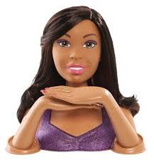 barbie color and crimp deluxe styling head african american