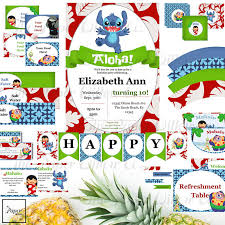 stitch lilo stitch birthday printable party diy