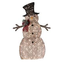 living 48 in lighted vine snowman outdoor