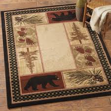 rustic cabin bathroom ideas rustic wildlife rugs including moose and bear rugs black forest