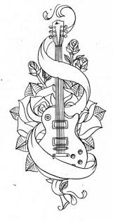old guitar by nevermore ink on deviantart parchment