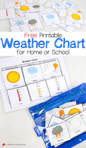 free printable weather chart for home or a little pinch