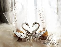 swan wedding european styles wedding box acrylic silver swan sweet