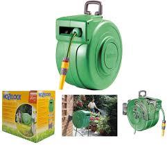 water hose reel wall mount hozelock 20m wall mount retractable auto rewind garden hose reel
