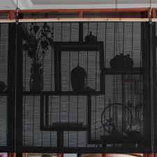 yazi customized size green bamboo curtain up window blinds