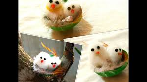 how to make cute birds in nest miniature birds in nest youtube
