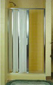 Accordion Curtain Folding Accordion Tub And Shower Doors Retro Renovation