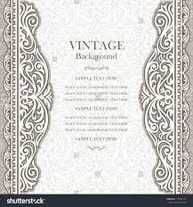 Invitation Card Cover Vintage Background Design Elegant Book Cover Stock Vector