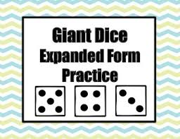 pattern practice games giant dice expanded form practice game by sarah jane mackey tpt