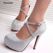 wedding shoes high online shop famiao women high heels prom wedding shoes