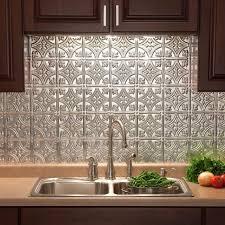 kitchen backsplash lowes kitchen fasade 24 in x 18 traditional 1 pvc decorative backsplash