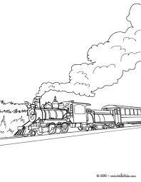 steam engine landscape coloring pages hellokids