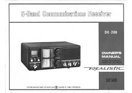 vintage radio receiver transceiver scanner manuals schematics
