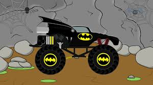 monsters truck videos batman monster truck video demolisher for children by bazylland