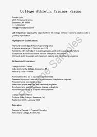 Athletic Resume Template Sample Resume For College Athlete Augustais