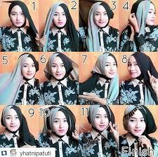tutorial hijab pesta 2 kerudung aneka tutorial hijab modern tumpuk silang dua warna