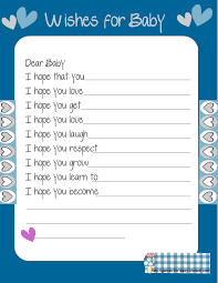 baby for baby showers free printable baby shower wishes for the baby