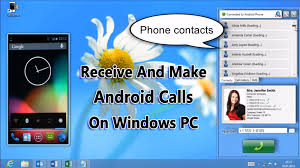 pc to android to receive and make android call on windows pc
