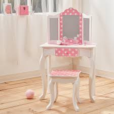 childrens dressing table mirror with lights astonishing teamson kids children pink wooden vanity stool dressing