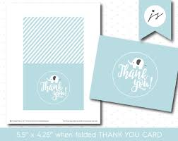 baby blue elephant thank you cards for baby showers and birthdays