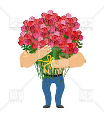 big bouquet of roses with big bouquet of roses give flowers vector clipart image