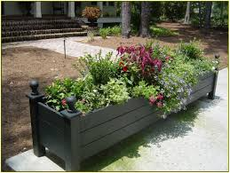 deck rail planter home design ideas