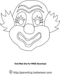 coloring dazzling clown mask template coloring clown