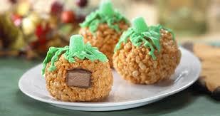 rice crispy treat pumpkins rice krispies pumpkin treats with a giveaway the