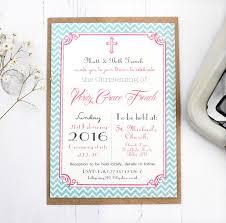 personalised u0027christening u0027 invitations by precious little plum
