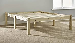 double pine bed 4ft 6 140cm studio double bed wooden frame with