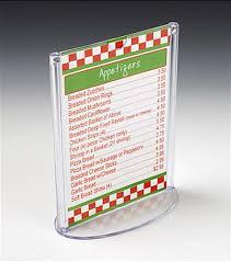table tent sign holders restaurant menu holder oval base stand for tabletops