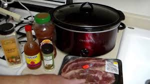 easy crock pot recipe beef chuck roast cooked in salsa and