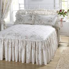vantona country quilted fitted bedspread dove mill