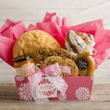 bakery gift baskets bloom where you are planted gift basket on the shelf by kneaders
